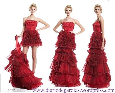vestido debutante 15 anos vermelho